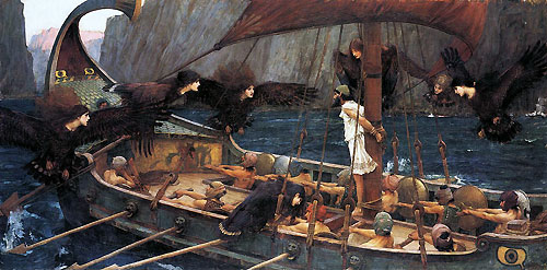 Ulisses i Syreny, mal. John William Waterhouse (fot. wikimedia)