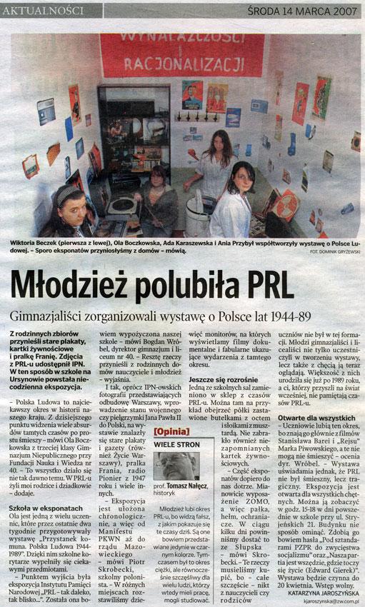 Życie Warszawy, 14 marca 2007 r.