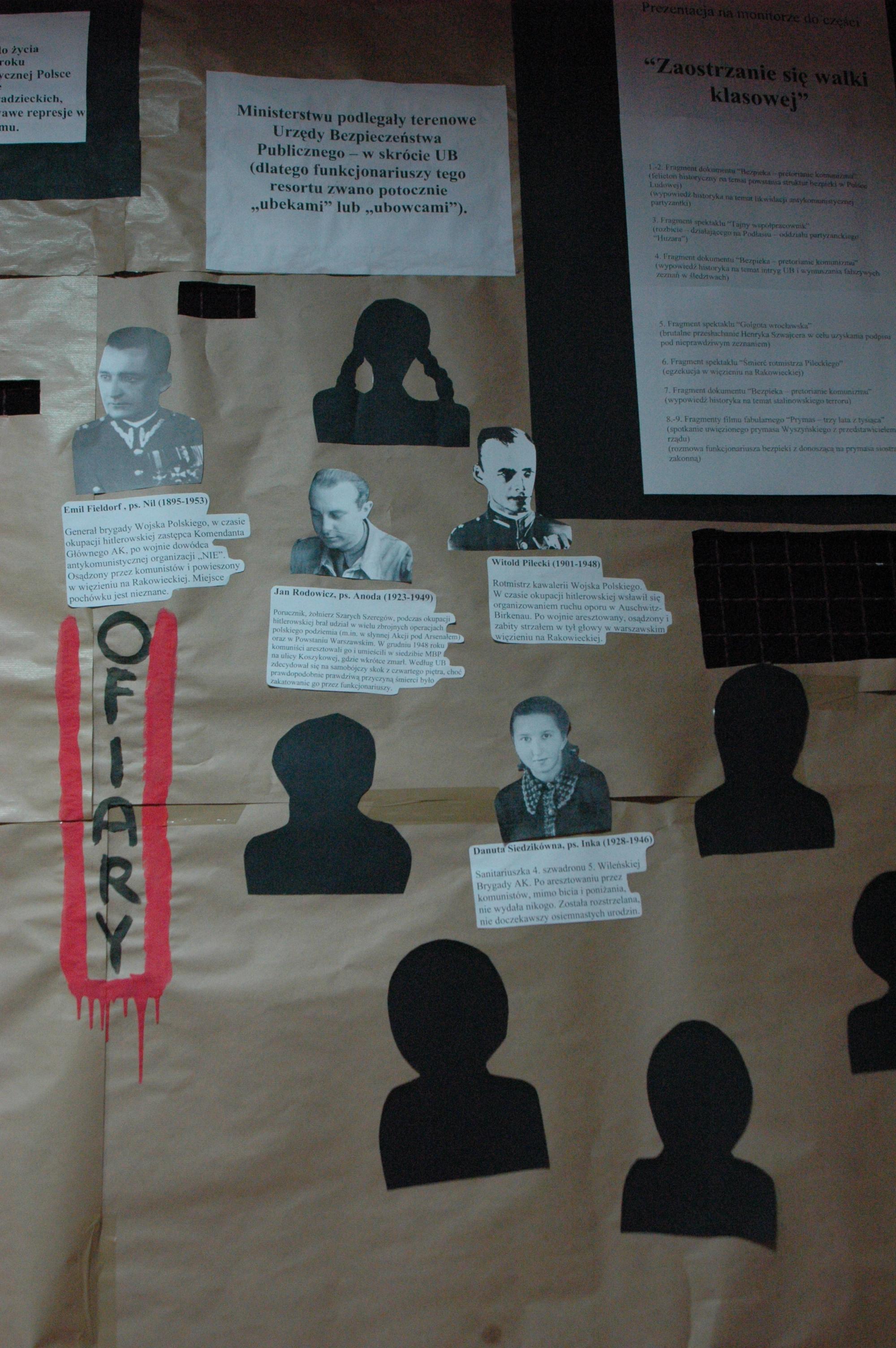 Portrety i biogramy osób zabitych przez UB. Jak wybrać kilka spośród tysięcy? To przekracza ludzkie możliwości.
