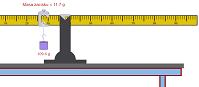 Wyznaczanie masy belki (html5)