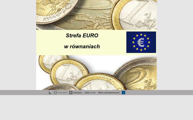 Strefa EURO w równaniach