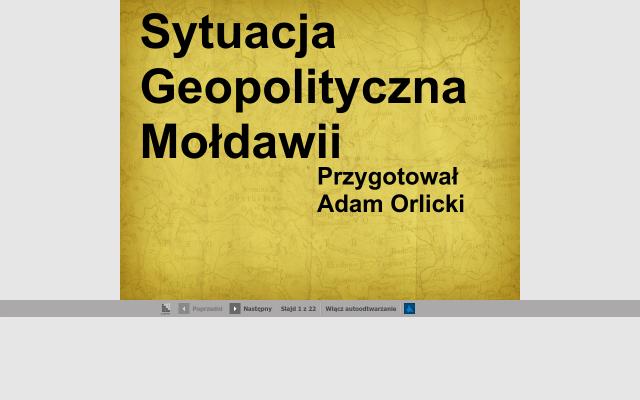 Sytuacja Geopolityczna Mołdawii