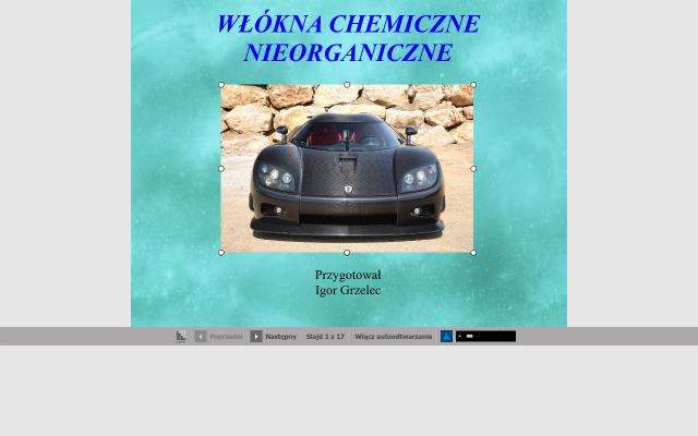 WŁÓKNA CHEMICZNE NIEORGANICZNE