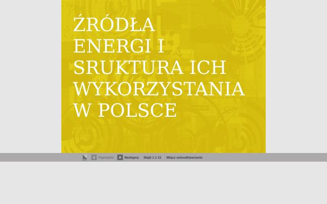 Źródła energii i struktura ich wykorzystania w Polsce