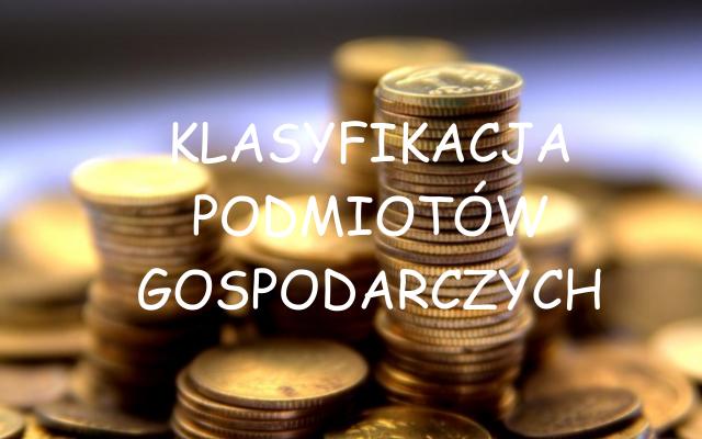 Klasyfikacja podmiotów gospodarczych
