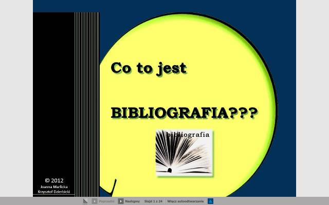 Co to jest BIBLIOGRAFIA???