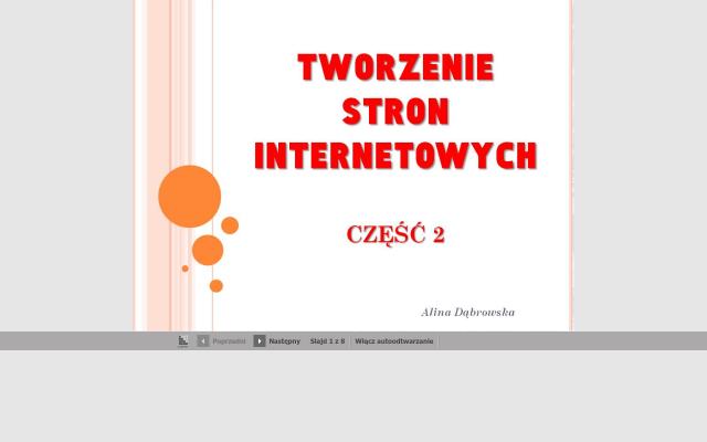 Tworzenie stron internetowych -cz.2