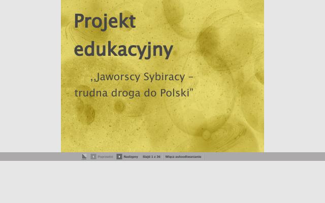 Jaworscy Sybiracy- trudna droga do Polski