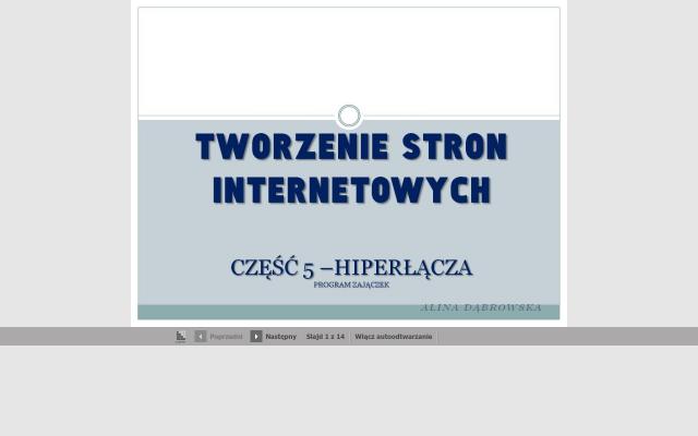 Strona internetowa -cz.5 -odnośniki