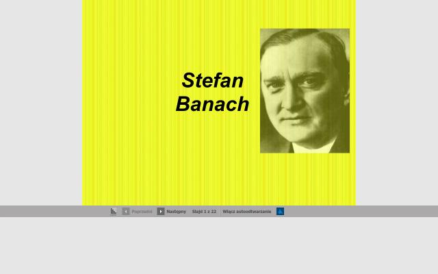Prezentacja  Stefan Banach