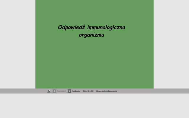 Odpowiedź immunologiczna organizmu.