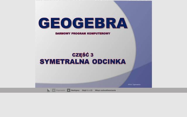 Geogebra - cz.3 - program komputerowy do nauki matematyki