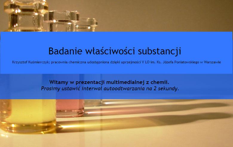 Badanie właściwości substancji