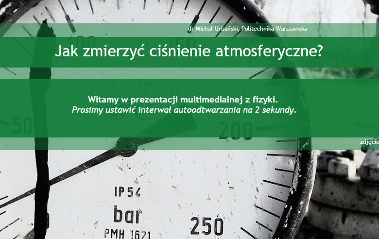 Jak zmierzyć ciśnienie atmosferyczne?