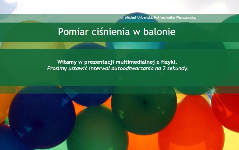 Pomiar ciśnienia w balonie