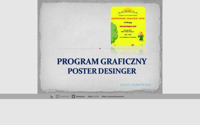Poster Desinger -program graficzny