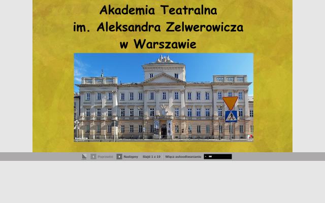 Akademia Teatralna im. Aleksandra Zelwerowicza w Warszawie