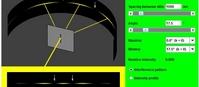 Dyfrakcja światła na pojedynczej szczelinie (html5)